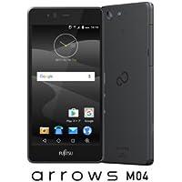 富士通 SIMフリースマートフォン arrows M04 ブラック FARM06303(M04ブラツク)