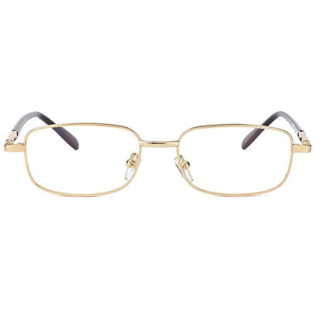 栄光バケットゴム金属老眼鏡、落下防止光学ガラス抗疲労色変化マルチフォーカス老人読書抽出機、新聞を読むのに適したコンピューターを見て