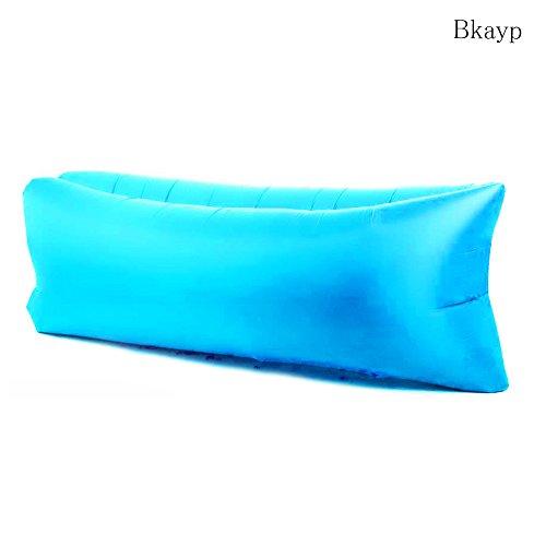 Bkayp AIR SOFA 空気を一気に入れるだけ!エアマット エアクッション エアーソファー air sofa エアハンモック ビーチ キャンプ アウトドア 登山 夏フェス 野宿 バカンス 海水浴 アウトドア用品 エアソファー 寝袋 エアーマット エアーベッド (青色)