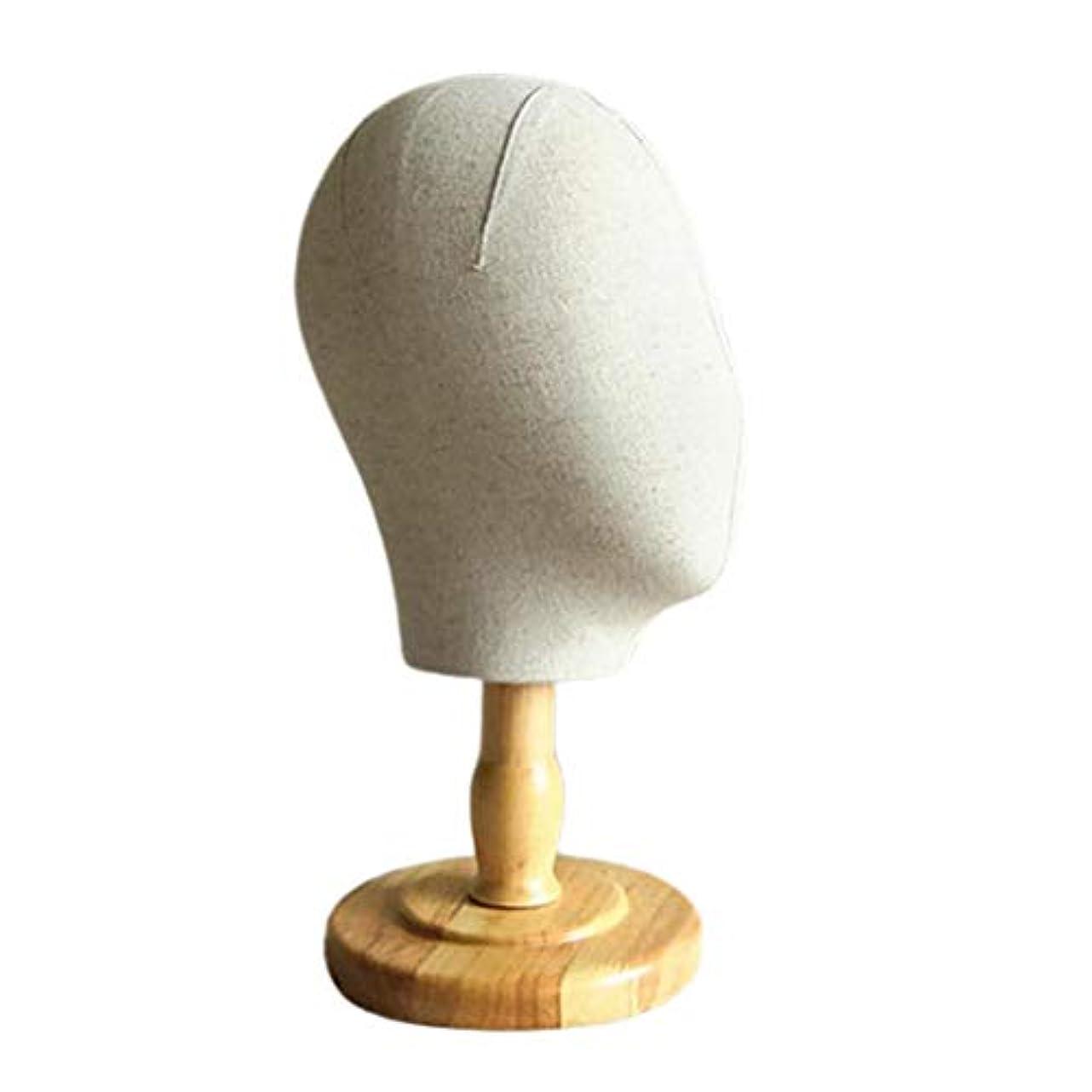 コマース均等に過言T TOOYFUL マネキンヘッド ディスプレイ キャンバス ウィッグ 帽子 スタンド 家庭 サロン ショップ