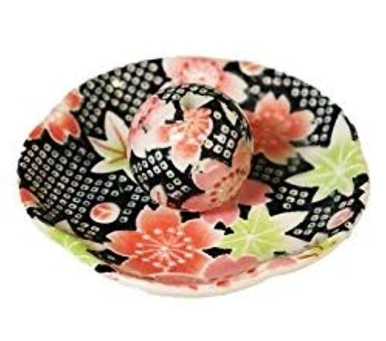 ゲストネコ作家かのこ友禅 花形香皿 お香立て お香たて 日本製 ACSWEBSHOPオリジナル
