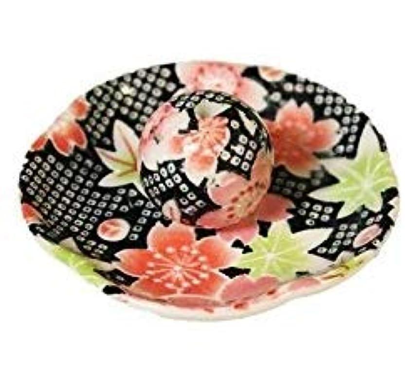 クリップ蝶オリエンテーションドナウ川かのこ友禅 花形香皿 お香立て お香たて 日本製 ACSWEBSHOPオリジナル