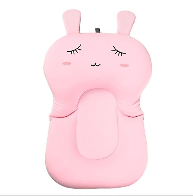 Debris時間ソフトBaby Bath枕パッド幼児LoungerエアクッションフローティングBather Bathtubパッド ピンク