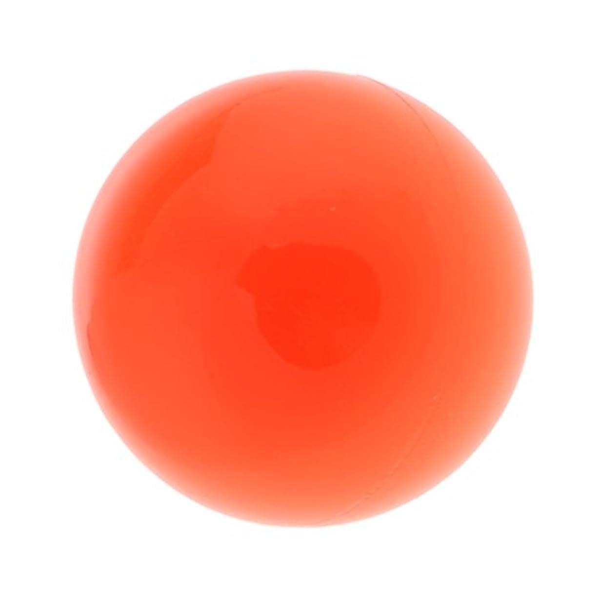 ひねくれた高原近似ラクロスマッサージボール マッサージボール マッサージ 手のひら 足 腕 首 背中 足首 ジム ホーム 便利 オレンジ