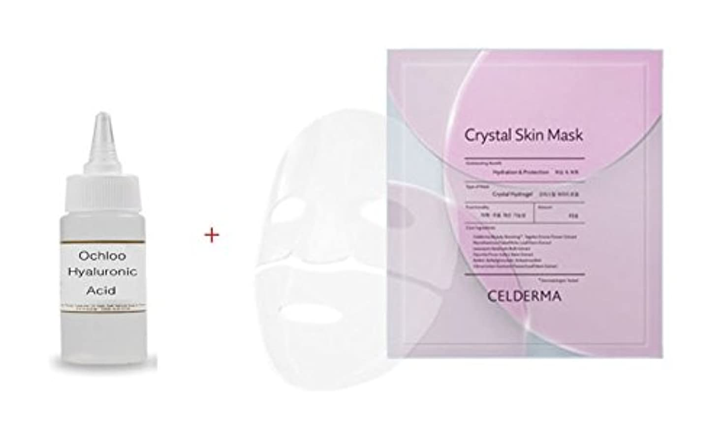 微生物クラッチ製油所CELDERMA Crystal Skin Mask: Pretty Transparent Hydrogel Pack Tightly fitted perfectly like my skin (23gx 5) 素敵...