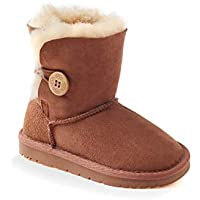 OZWEAR UGG Kids Classic UGG Button Boots (Water Resistant) 2 Colours OB022
