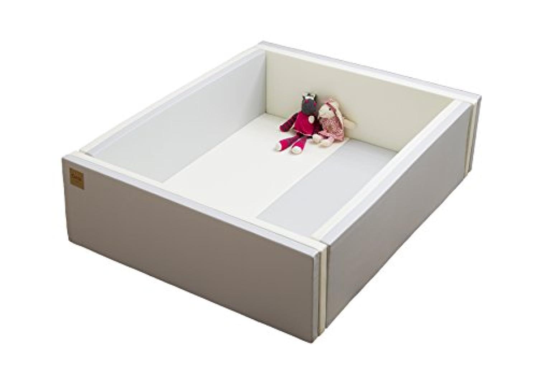 Caraz(カラズ) ベビーサークル 折りたたみ マット 床セット 120×140×40cm クリームグレー