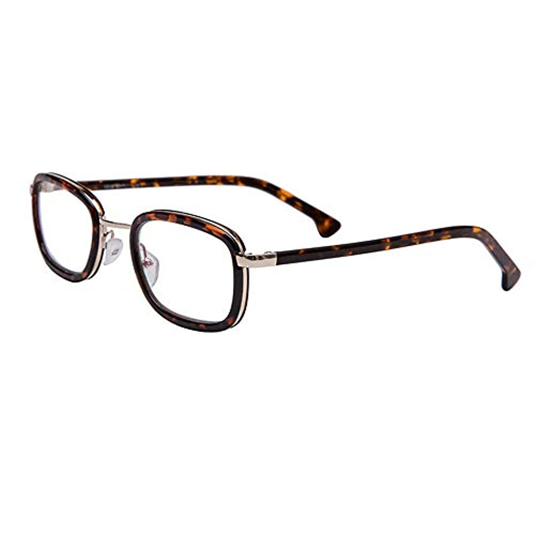 男性と女性のためのフルフレーム老眼鏡、 お年寄り HD樹脂抗疲労遠視メガネ、 ファッションコーヒーの色