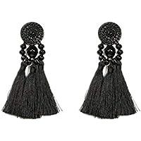 Colette Hayman - Metal Beaded Tassel Earrings