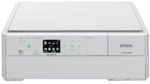 EPSON Colorio インクジェット複合機 EP-804AW 有線・無線LAN標準対応 スマートフォンプリント対応 先読みガイド&カンタンLEDナビ搭載 6色染料インク ホワイトモデル