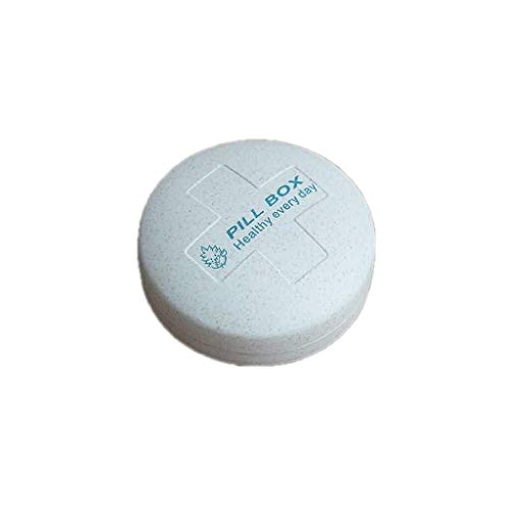着服遺伝子ヘビHTDZDX 5つのコンパートメントピルボックス、ホールダーが付いている薬のタブレットのオルガナイザーのビタミン剤のための携帯用密集した旅行収納箱 (Color : Blue)