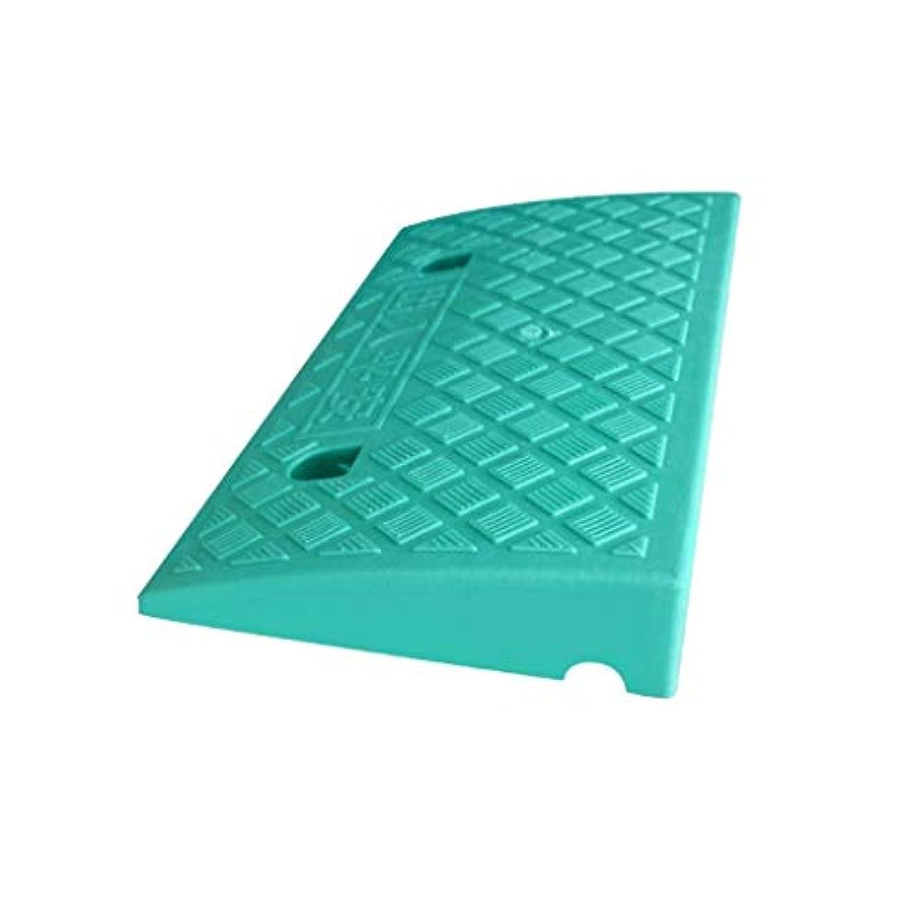 浸透するパスタ倍増屋外ステップ、スロープ、自転車、オートバイ、スロープ、パッド、ホテル、アパートメント、カーブ、カーブ、勾配、車椅子用スロープ、 (Color : Green, Size : 49.5*26.8*6.8CM)