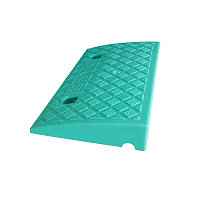 処方援助するマイコン屋外ステップ、スロープ、自転車、オートバイ、スロープ、パッド、ホテル、アパートメント、カーブ、カーブ、勾配、車椅子用スロープ、 (Color : Green, Size : 49.5*26.8*6.8CM)