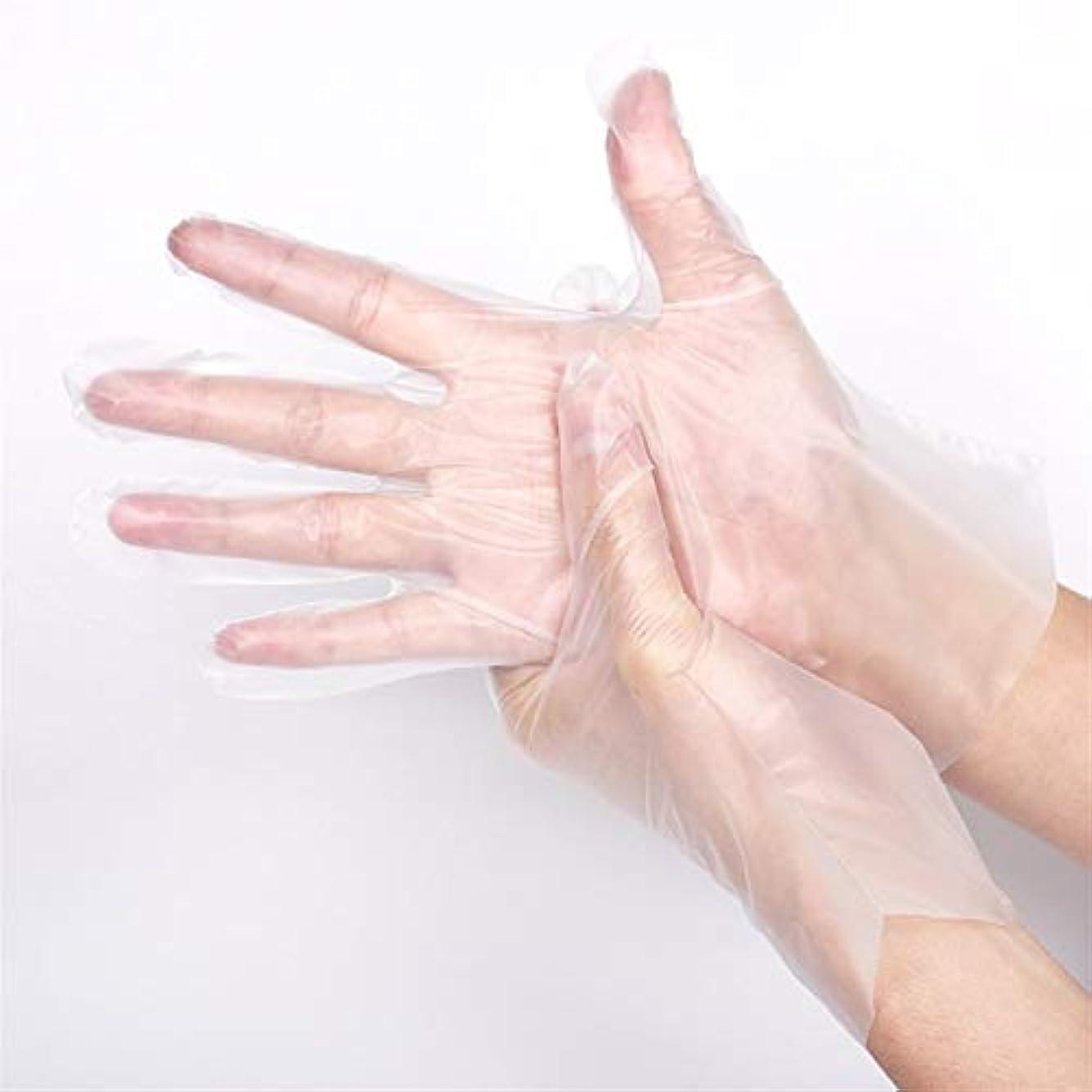 メタンを必要としています繁雑ニトリルゴム手袋 使い捨て手袋100厚ケータリング理髪プラスチックフィルム家庭用キッチン手袋、100 /箱 使い捨て手袋 (Color : Blue, Size : M)