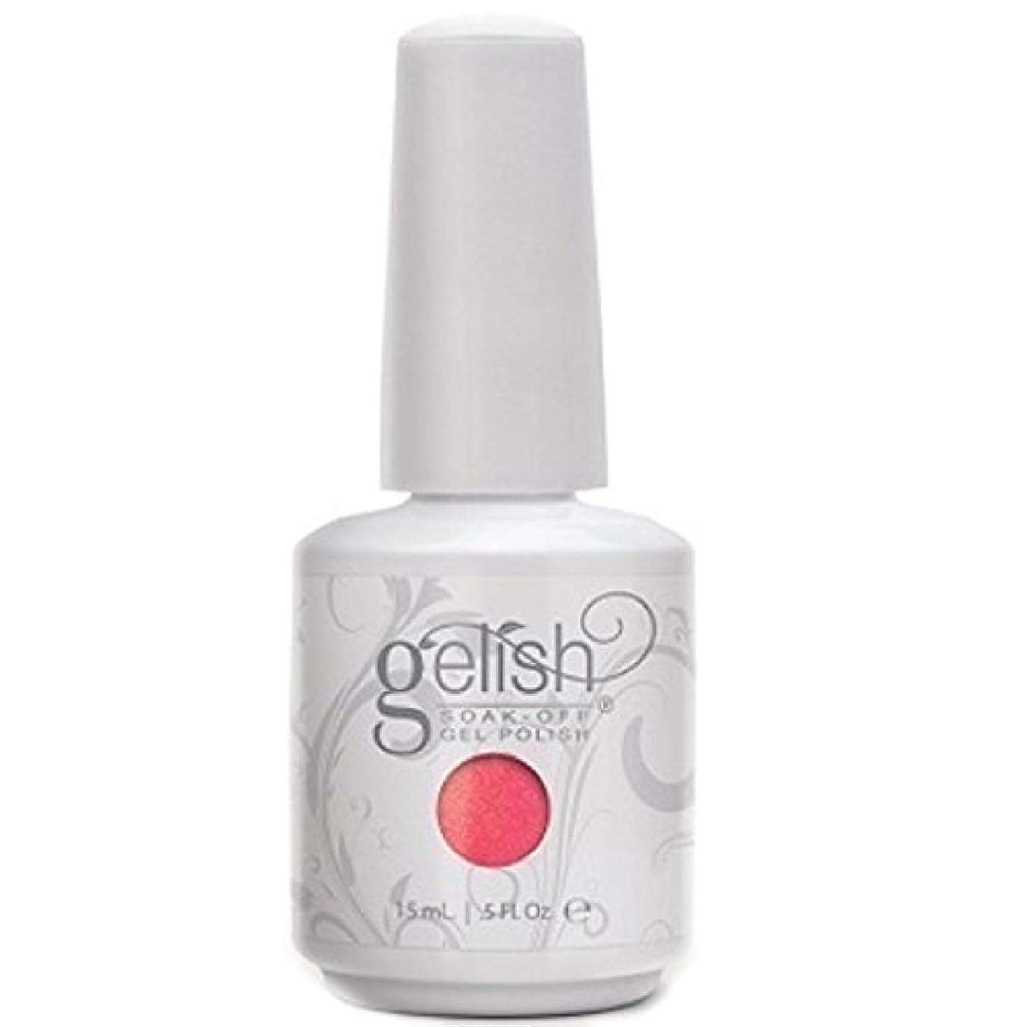 テンションプライバシー話すHarmony Gelish Gel Polish - Hip Hot Coral - 0.5oz / 15ml