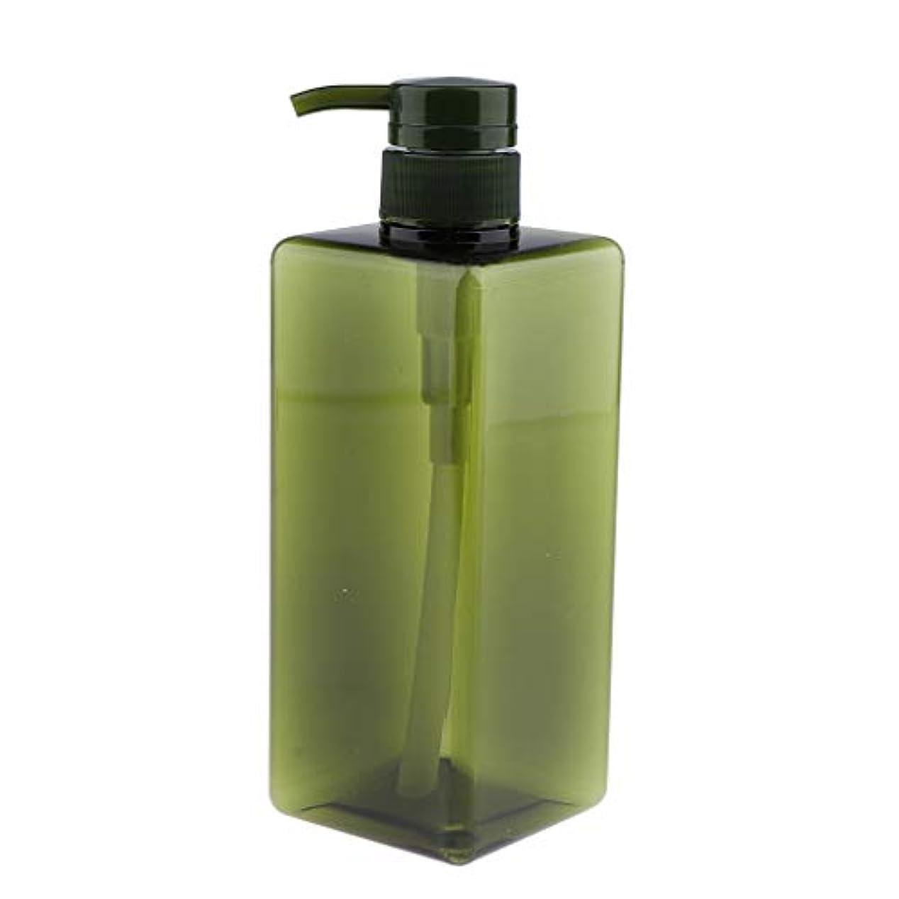 短命政府到着するIPOTCH シャンプーコンテナ ポンプボトル 大容量 650ml 4色選べ - グリーン