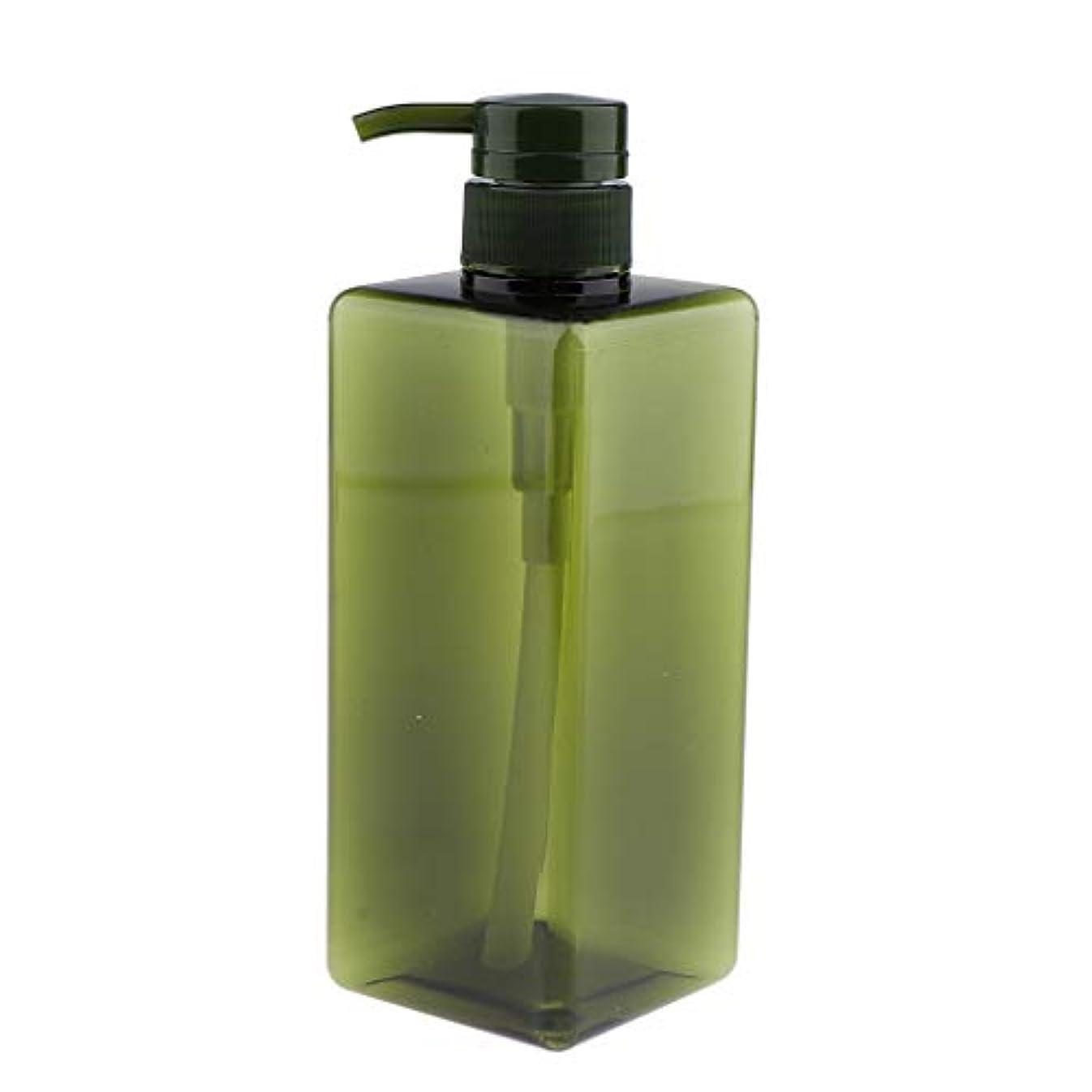 書く巡礼者郵便番号IPOTCH シャンプーコンテナ ポンプボトル 大容量 650ml 4色選べ - グリーン