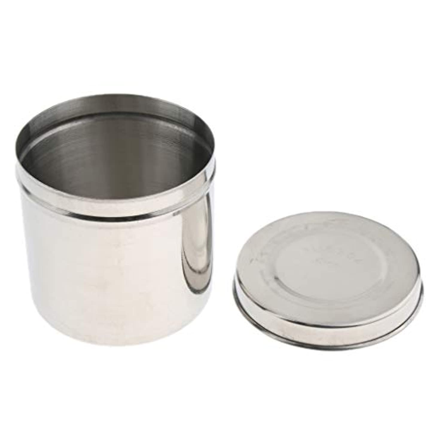 喜び緩やかな確執B Blesiya 詰め替えボトル 蓋付き ジャー 多機能 ステンレス缶 ポット コンテナ 収納用 全4サイズ - 10cm, シルバー