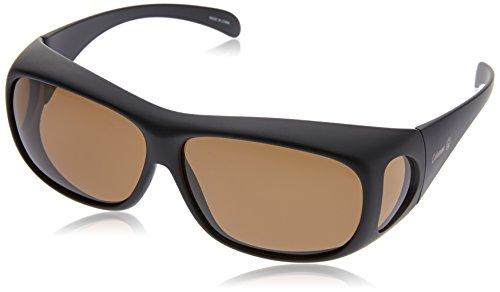 コールマン メガネの上から掛けられるオーバーサングラス 偏光レンズ ブラックマット CO3012-2