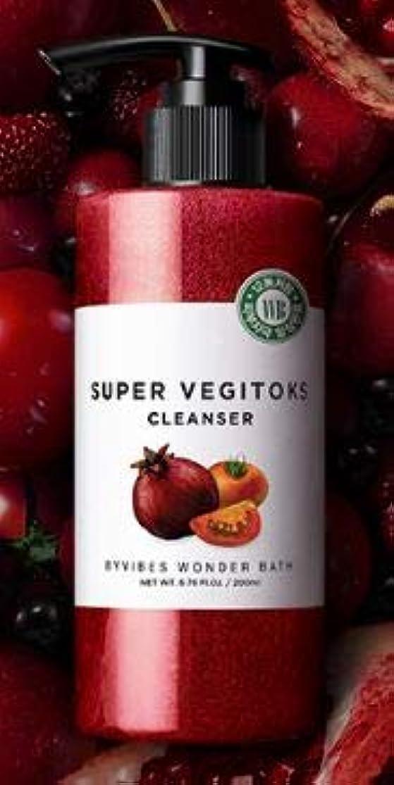 縫う筋肉の時計[WONDER BATH] Super Vegitoks Cleanser 200ml /ワンダーバス スーパー ベジトックス クレンザー 200ml (タイプ : #スーパーベジトックスクレンザーレッド) [並行輸入品]