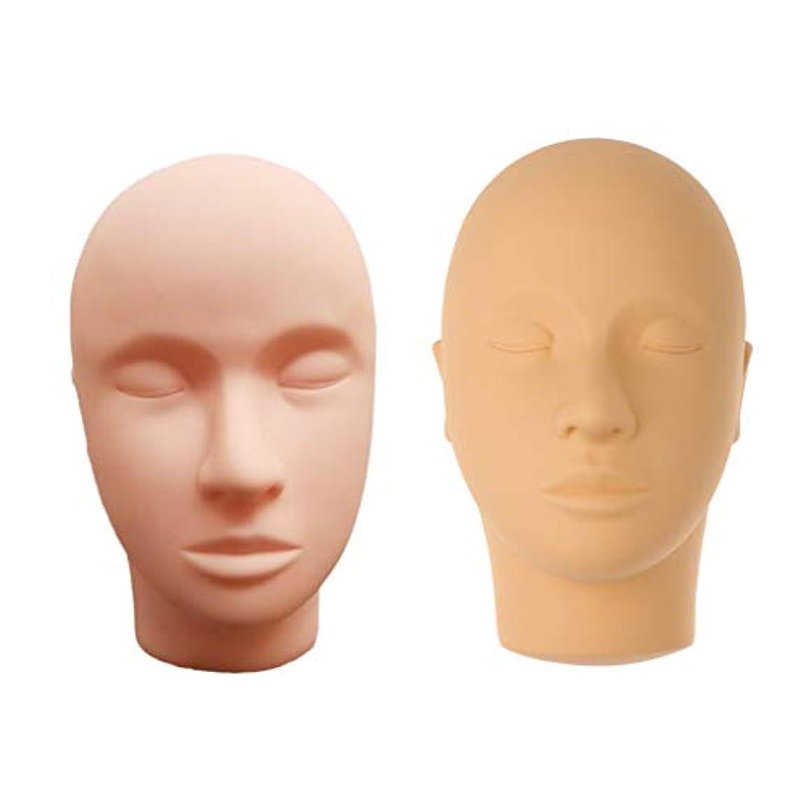 蚊表面的な圧縮マネキンヘッド ディスプレイ 肌色 化粧練習 メイク マッサージ トレーニング 繰り返し利用