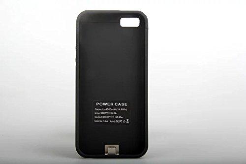 iPhone5 5S 対応 4000 mAh バッテリー iPhone5 5sバッテリー内蔵ケース充電ケース バッテリーケースPower Case (Black)