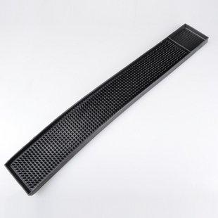 バーマット ゴム製 黒 ブラック 長方形(58×8cm)