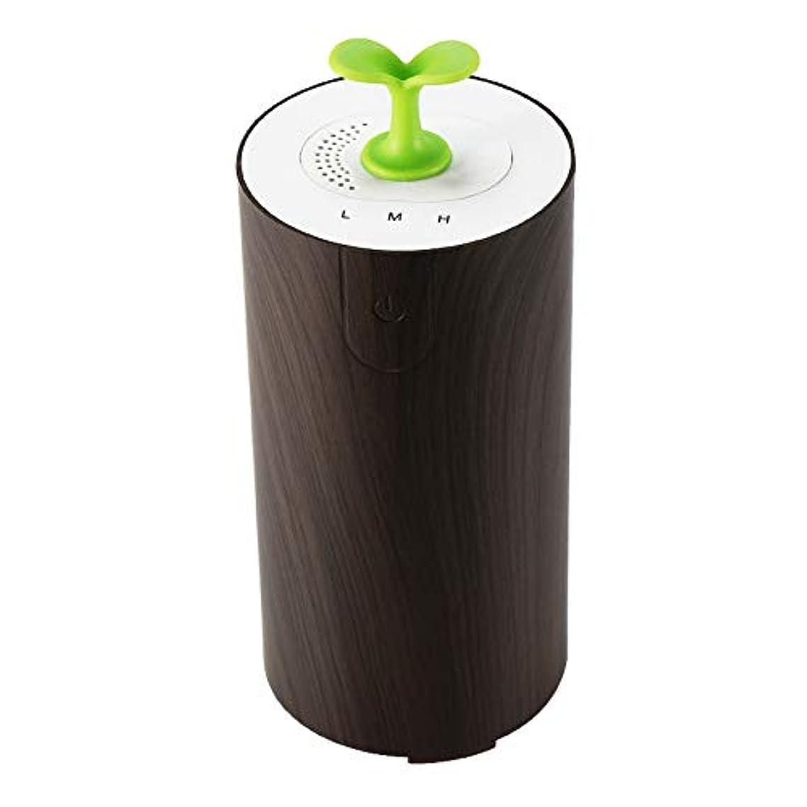節約謝る本当に車のアロマテラピーマシン清浄機、エッセンシャルオイルディフューザー多機能USBアロマ加湿器、水なし低燃費,Deepwoodgrain