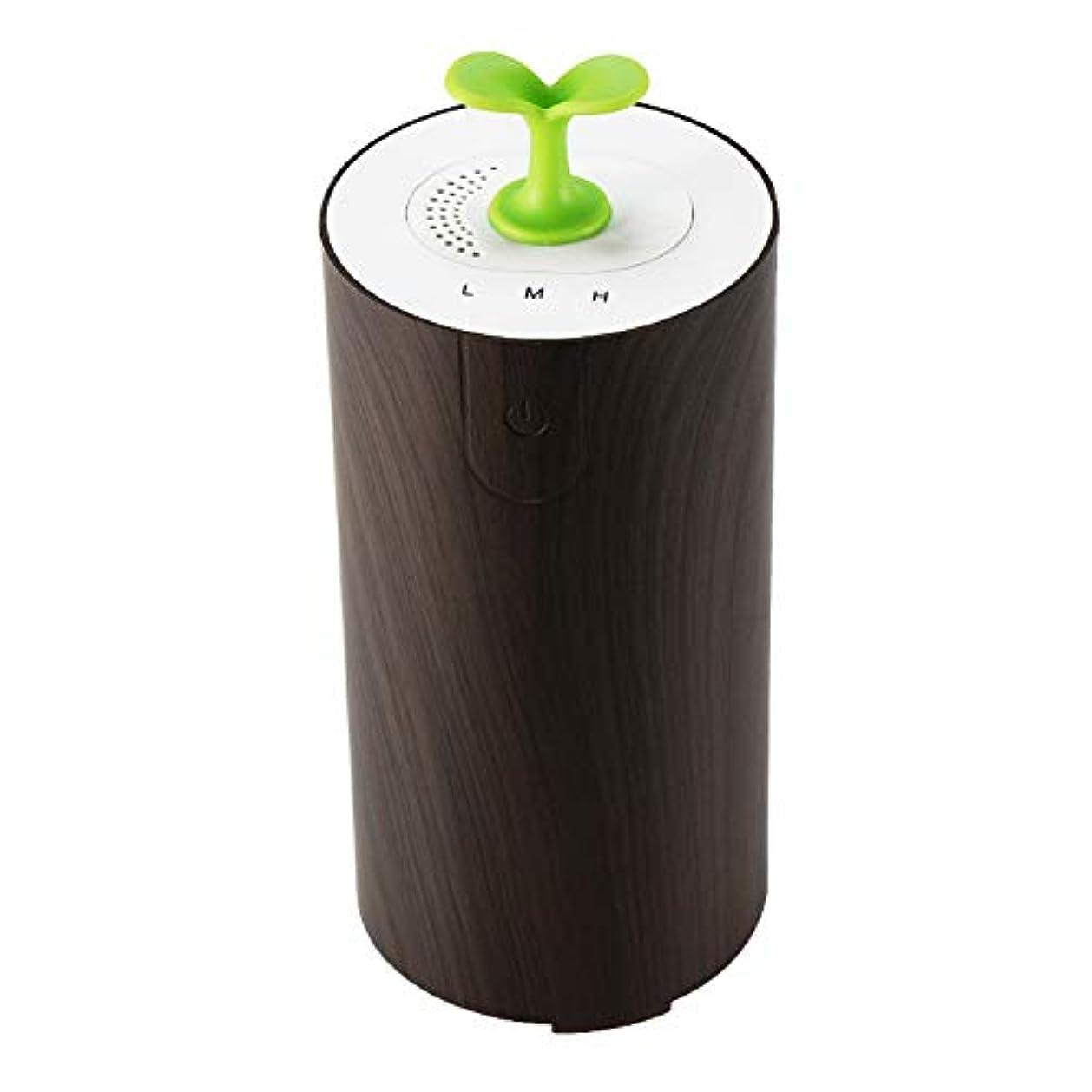 芝生熱帯の可聴車のアロマテラピーマシン清浄機、エッセンシャルオイルディフューザー多機能USBアロマ加湿器、水なし低燃費,Deepwoodgrain