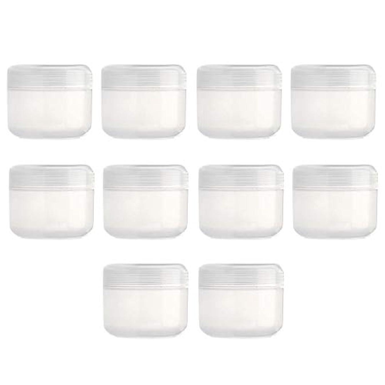 まろやかな包括的死んでいるDYNWAVE 10個入り 空のボトル 旅行用 空のクリーム容器 詰替え容器 クリームボトル 化粧品容器 全15色 - クリア50g