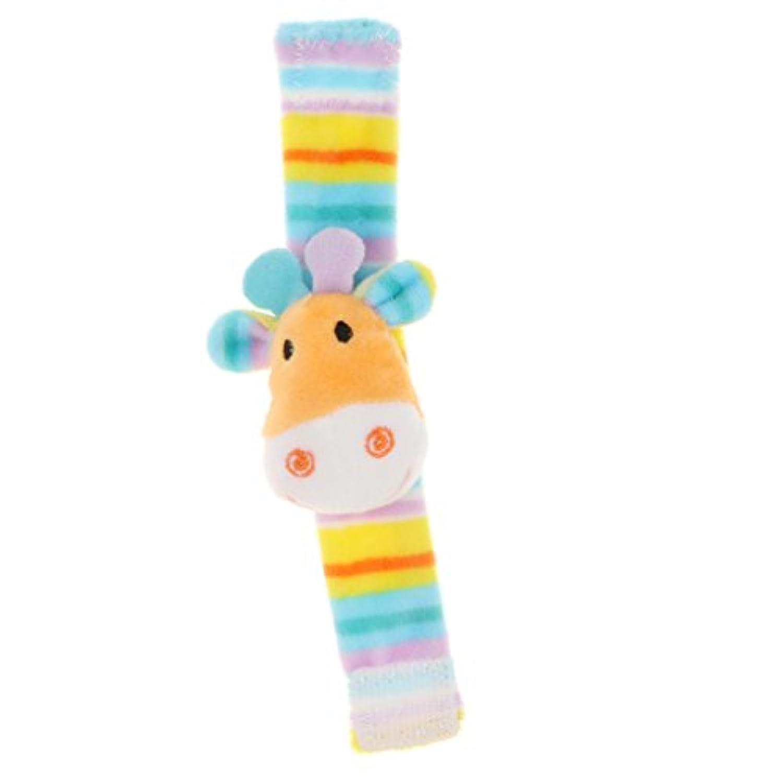 Perfeclan 柔らかい ぬいぐるみ ベビーベッド飾り ラトルおもちゃ 4色選択でき - #1