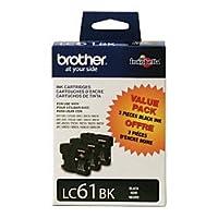 Brother lc61bk 3pkブラックインクカートリッジ