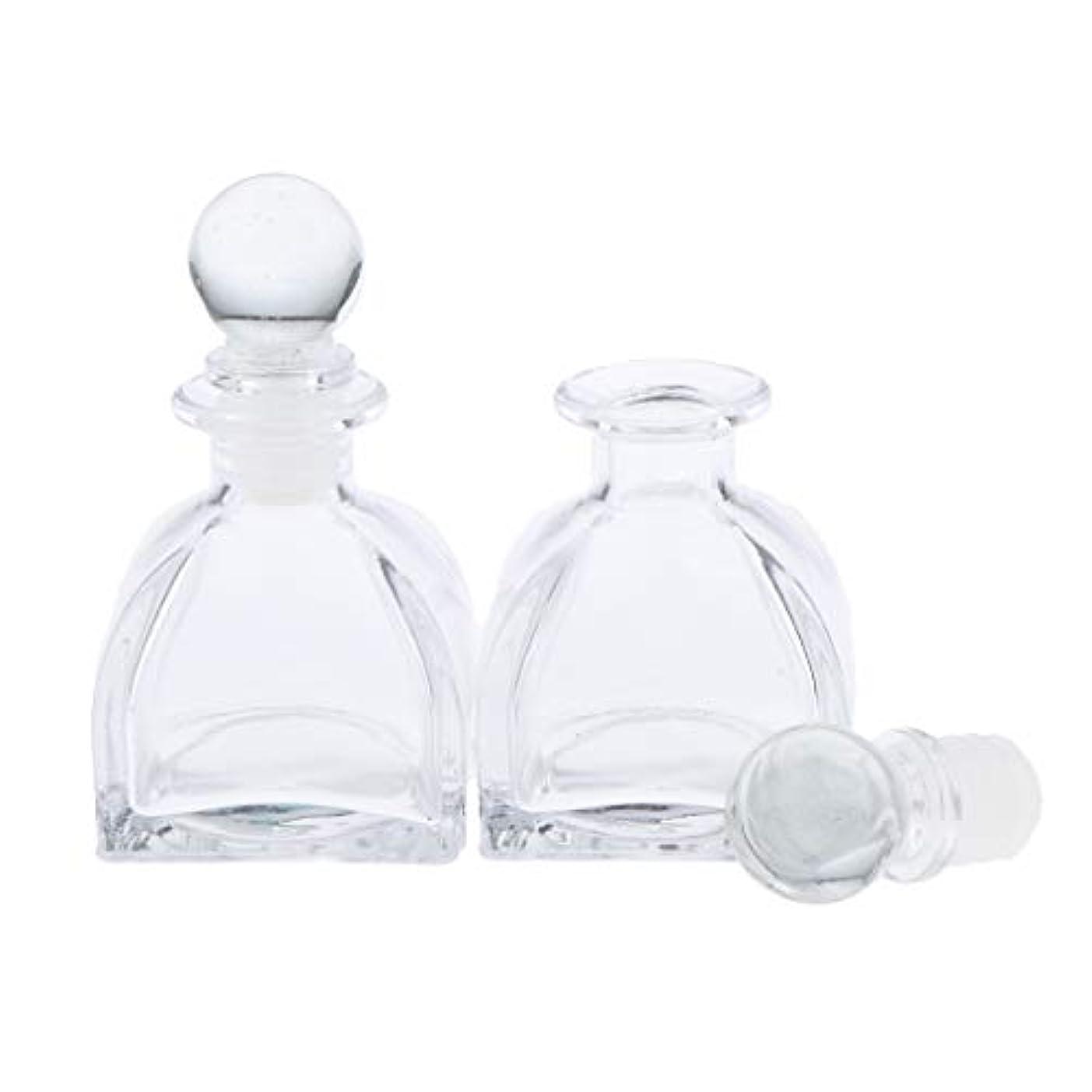 アイロニーレンズ聴くPerfeclan 2個 全3サイズ 香水ディフューザーボトル ガラスボトル 透明 ローション 化粧品適用 DIY 交換 - 50ミリリットル