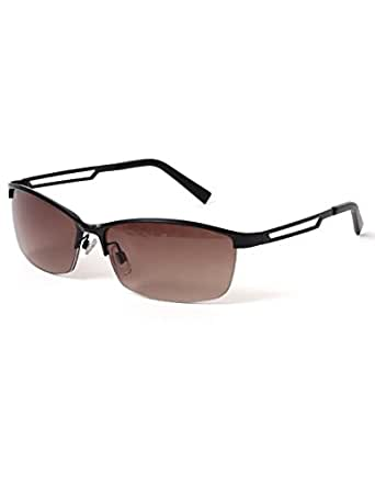 (リピード) REPIDO サングラス 眼鏡 伊達メガネ メンズ レディース ユニセックス ブロータイプメタルフレームサングラス Mブラック/ブラウンハーフ Free