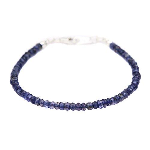 ジナブリング (JINA BRING) ブレスレット アイオライト 青が美しく輝く 導きの石 ウォーターサファイア ブ...