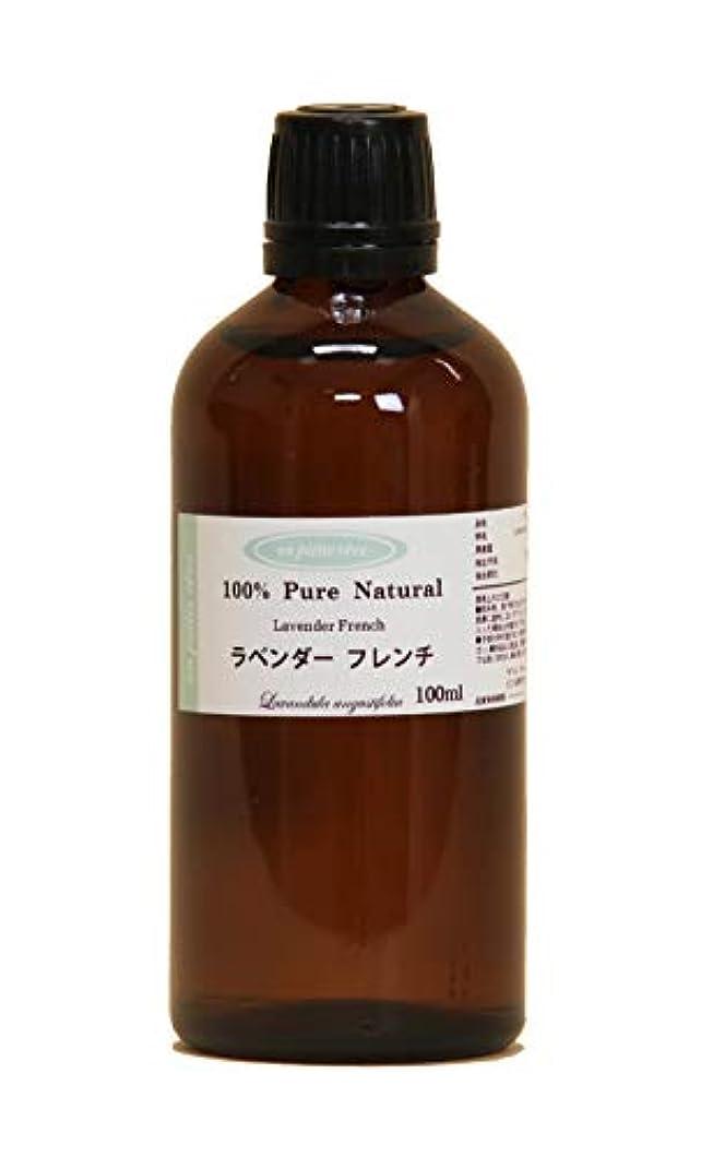 インフレーション明るい手配するラベンダーフレンチ 100ml 100%天然アロマエッセンシャルオイル(精油)