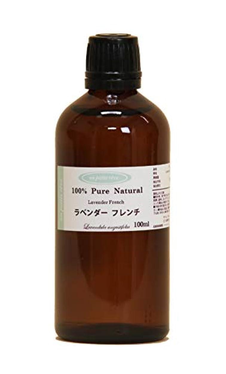ボーナス運動するデッドロックラベンダーフレンチ 100ml 100%天然アロマエッセンシャルオイル(精油)