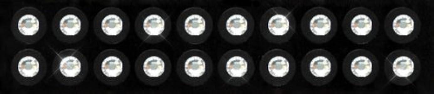 先住民記憶に残る静めるKraft Heart 耳つぼ ジュエリー ピアス 【 クリスタル (20粒入り) スワロフスキー付 チタン シール (3-SS16)】 貼るだけエステ 【 国内製造品/耳つぼ解説書付(耳つぼカウンセラー監修)】 ダイエット...