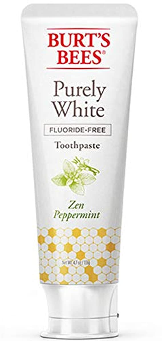 戸惑う近傍フォーマットバーツビーズ Burt's Bees ピュアホワイト 歯磨き粉 ホワイトニング オーガニック ペパーミント エコ 133g
