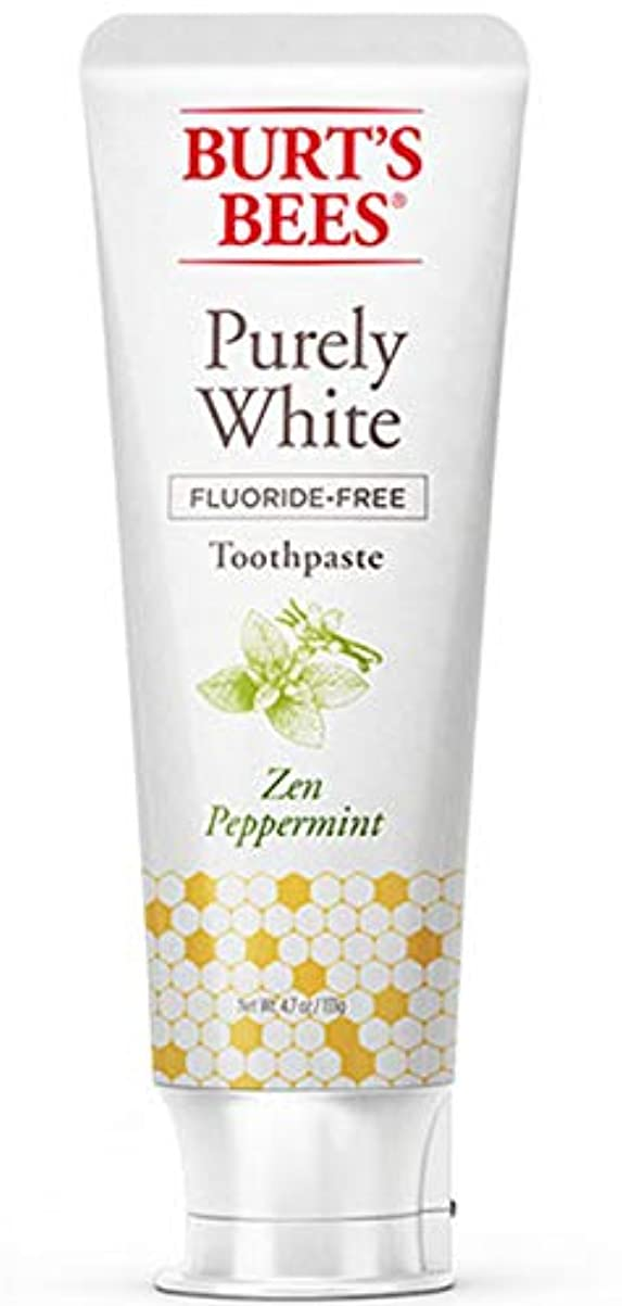 欲求不満星含意バーツビーズ Burt's Bees ピュアホワイト 歯磨き粉 ホワイトニング オーガニック ペパーミント エコ 133g