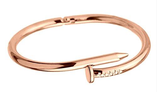 [해외]BORDER 네일 뱅글 팔찌 못 타입 스테인레스 레이디스 맨즈 남녀 겸용 팔찌 제품 보증 30 일/BORDER. Nail Bangle Bracelet Nail Type Stainless Steel Women`s Men`s Unisex Double Bangles Product Warranty 30 Days