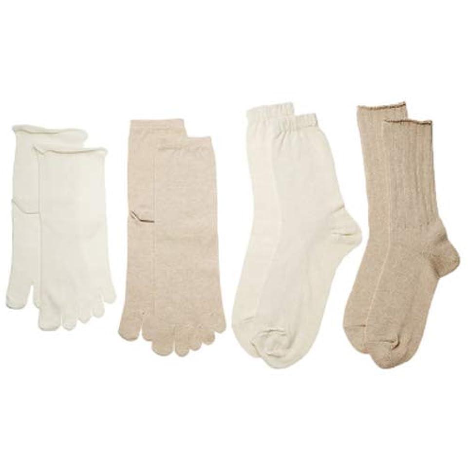 不明瞭広がりロマンチックコクーンフィット イノセントシリーズ 4足重ね履き靴下