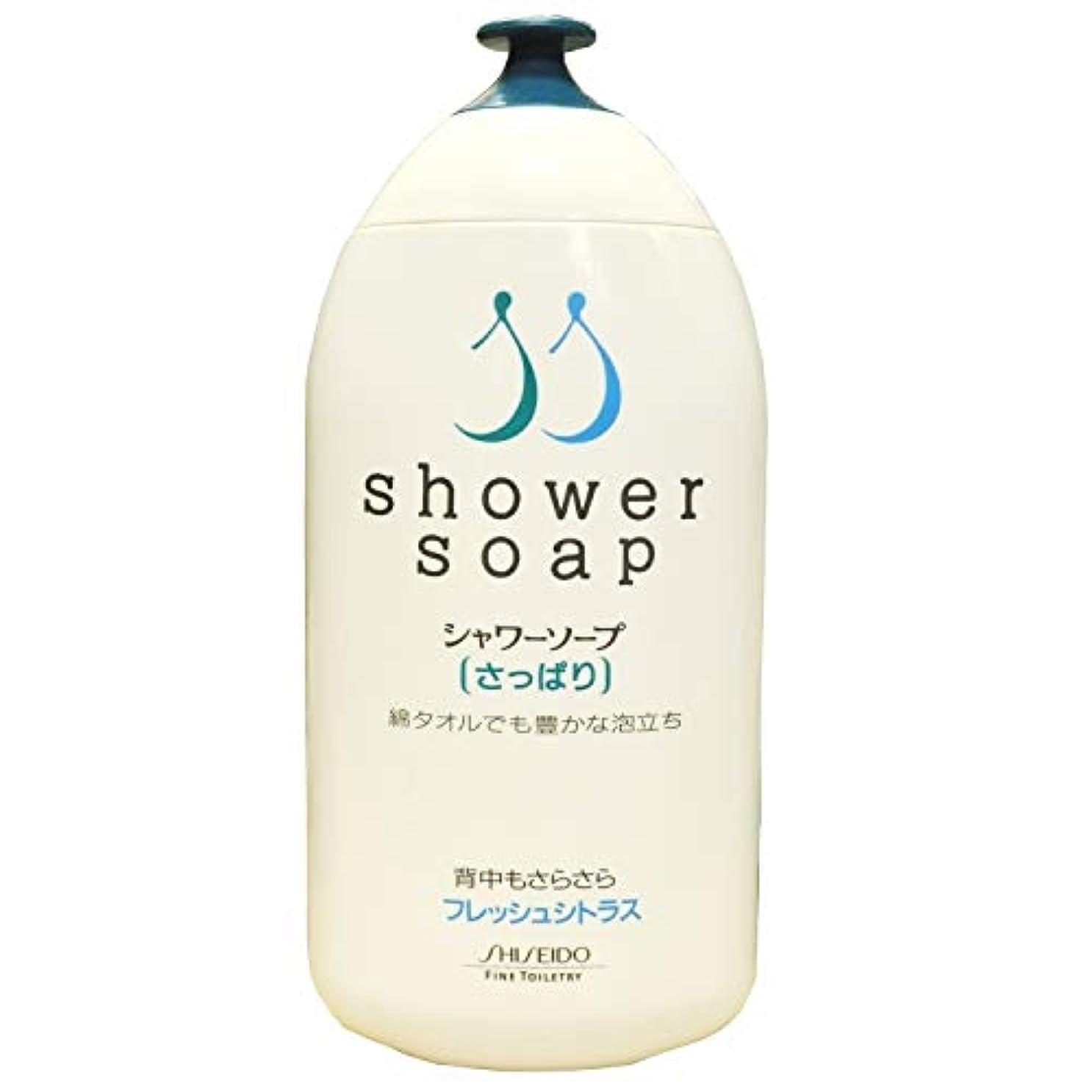 適合休日にプレート資生堂 シャワーソープ さっぱり フレッシュシトラス 全身洗浄料 300ml 1本
