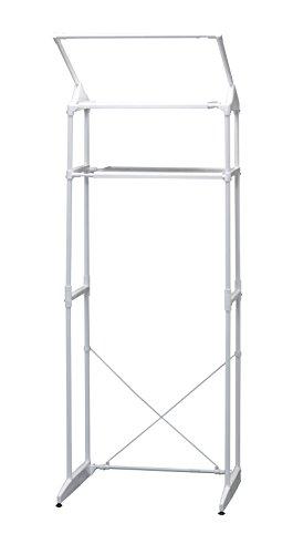 アイリスオーヤマ ランドリーラック ハンガーバー付 幅60~88.5cm ホワイト HLR-181P