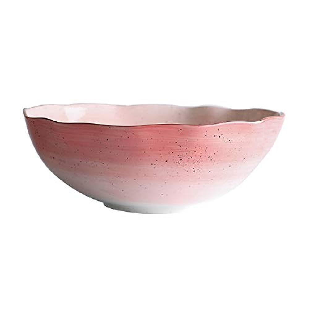 インシデントぶどう電化するHYDT ボウル 釉薬色鉢プレート、和風金陶器、家庭用食器、洋食用皿スープボウル、ピンク (色 : Small bowl)