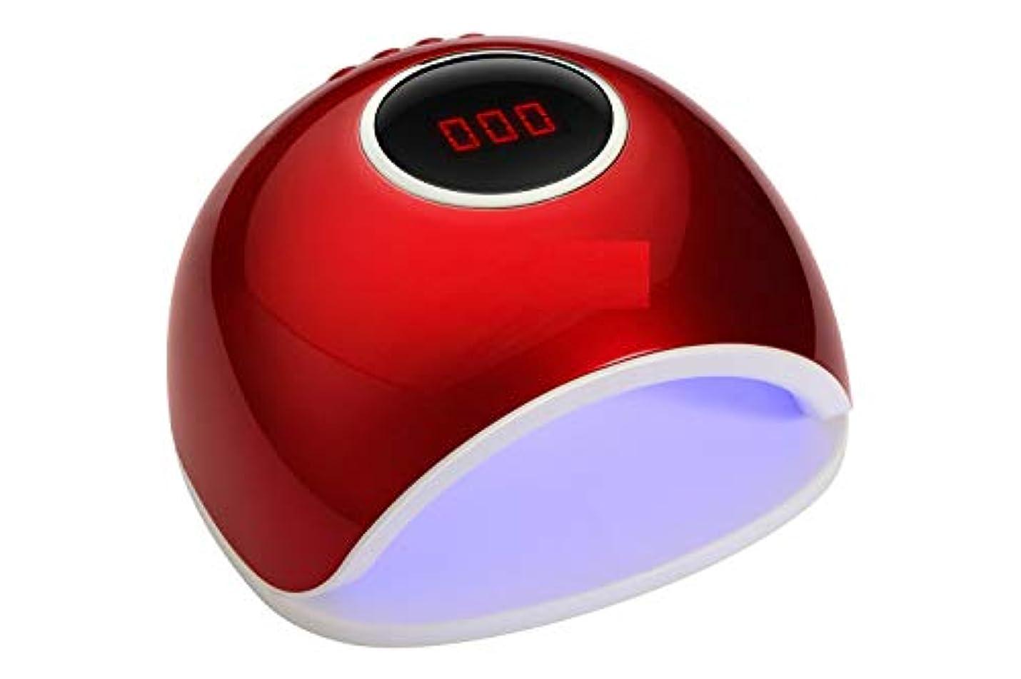ホバート全能リップLittleCat ネイル光線療法ライトはインテリジェント誘導機のローストマニキュア速乾性接着剤乾燥世帯72ワットを率いて (色 : Red euro)