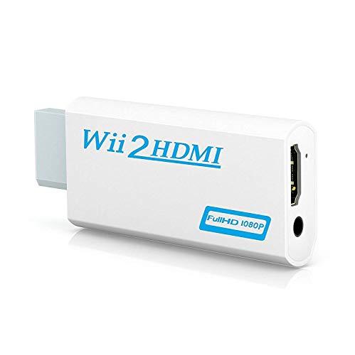 GANA Wii to HDMI変換アダプタ-Wii to HDMI コンバーター Wii専用HDMI コンバーター480p 720p 1080pに変換 3.5mmオーディオ