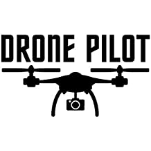 CCI Drone Pilot with Camera Decal Vinyl Sticker|Cars Trucks Vans Walls Laptop|Black |7.5 x 5.0 in|CCI1972