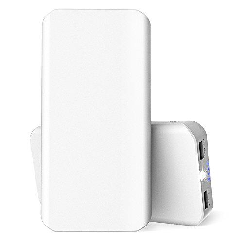 25000mAh 超大容量モバイルバッテリー スマホ充電器 2USBポット チャージャー 急速充電 1A&2.1A出力 コンパクト携帯便利 防水 防災 防塵 耐衝撃 iPhoneAndroid対応 地震、 旅行・ハイキングなどに適用 USBケーブル付き (白い)