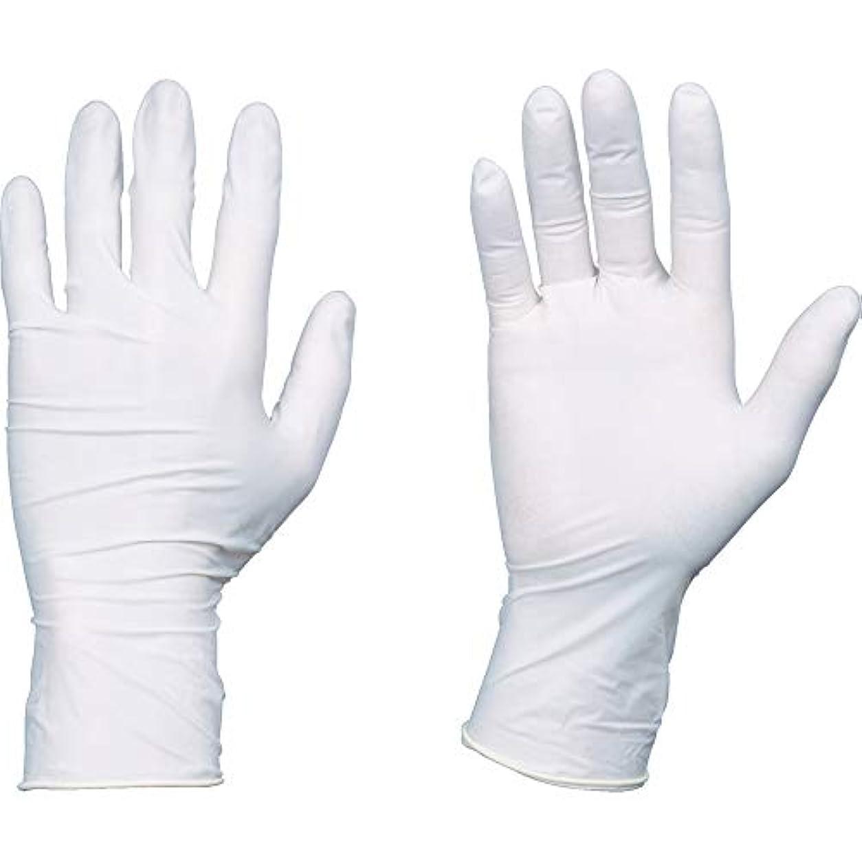 承認する研究麺TRUSCO(トラスコ) 使い捨て天然ゴム手袋TGセーフ 0.12 粉無白S 100枚 TGNL12WS